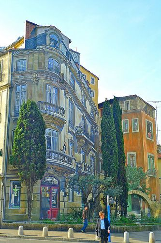 Montpellier France Trompe L Oeil Street Art Trompe L Oeil Art