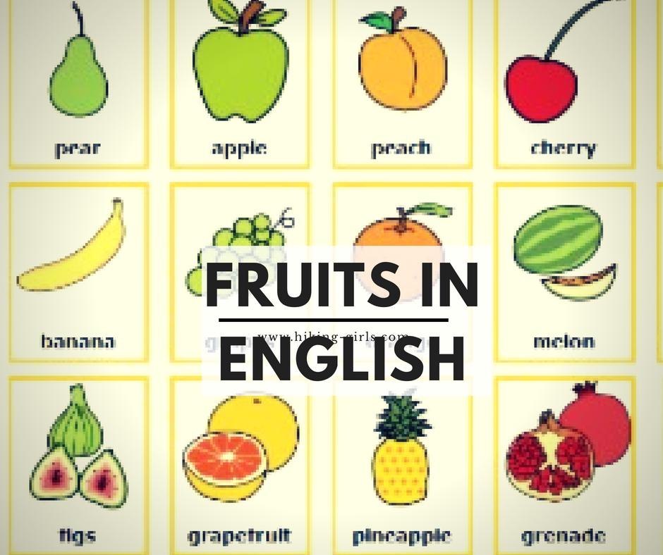 Frutas En Inglés Frutas Inglés Para Niños Fruta