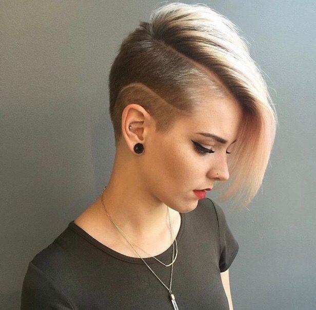 sidecut kort hår
