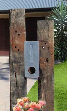 Jason Hodges Railway Sleepers Google Search Letter Box Diy Mailbox Letter Box Design