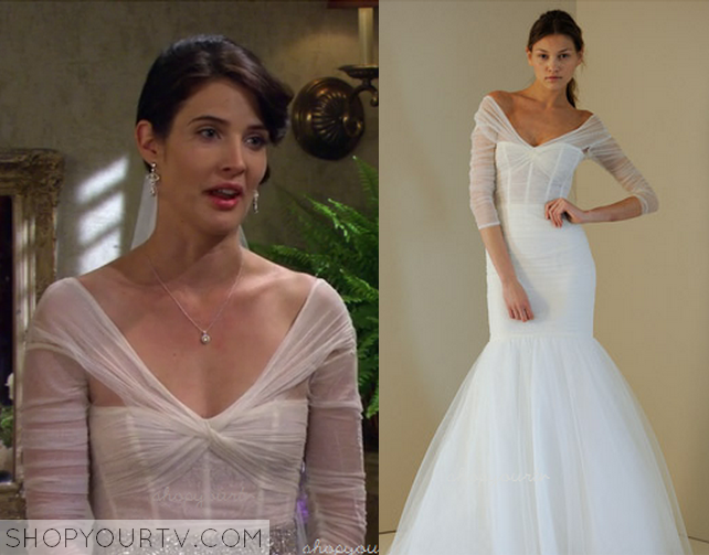 This Is The Wedding Dress That Robin Scherbatsky Cobie Smulders Was Wearing For Her And Barneys At Start Of