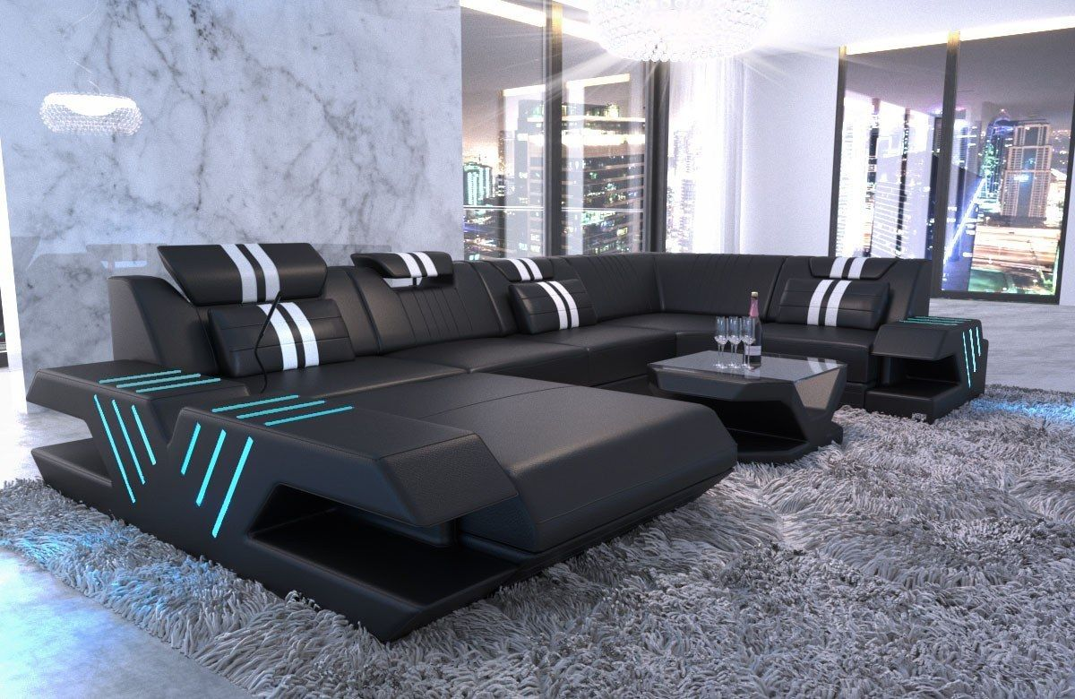 Sofa Led Design Leather Sofa Beverly Hills U Shape In 2019 New Home