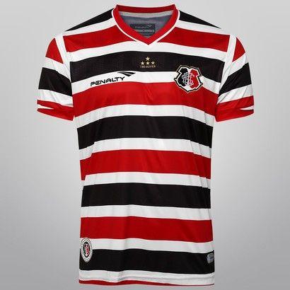 918cdcc8a4 Camisa Penalty Santa Cruz I 2015 nº 10 - Preto+Branco