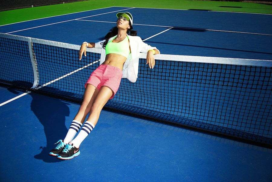 Фотосессия на теннисном корте