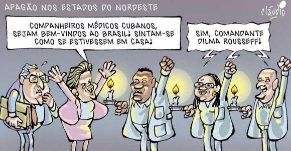Médicos cubanos se sentindo em casa...