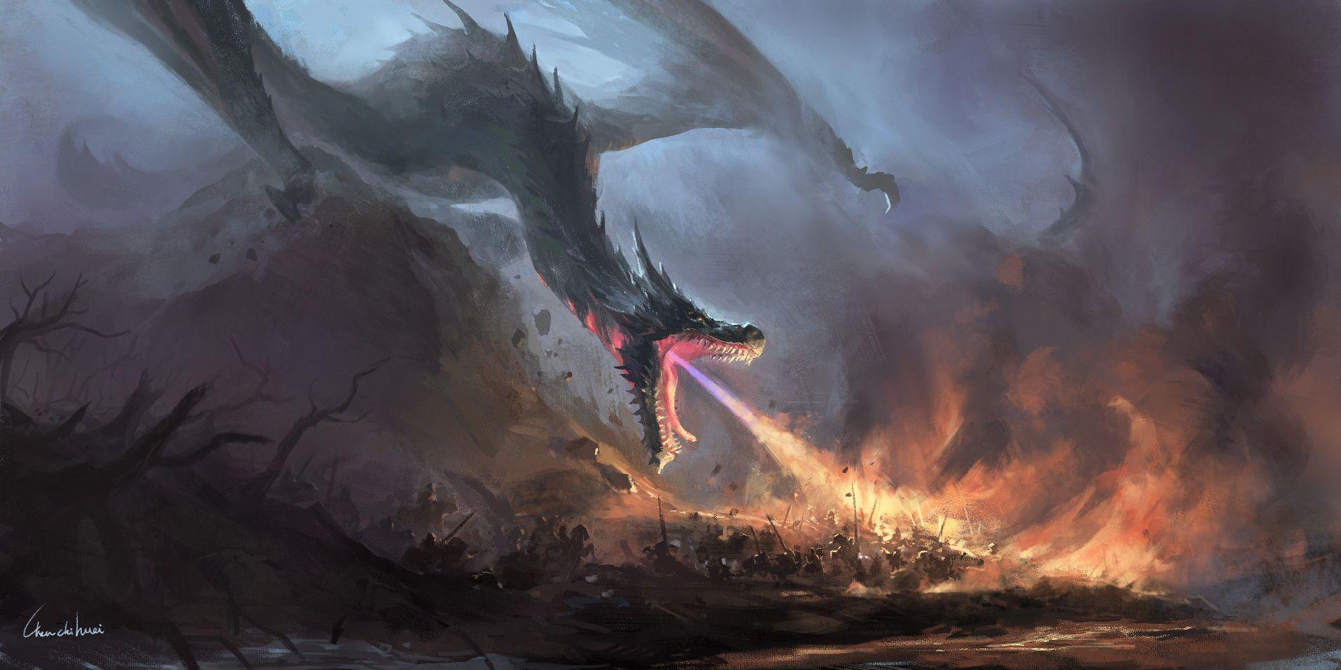 Dragon Army Fantasy Art