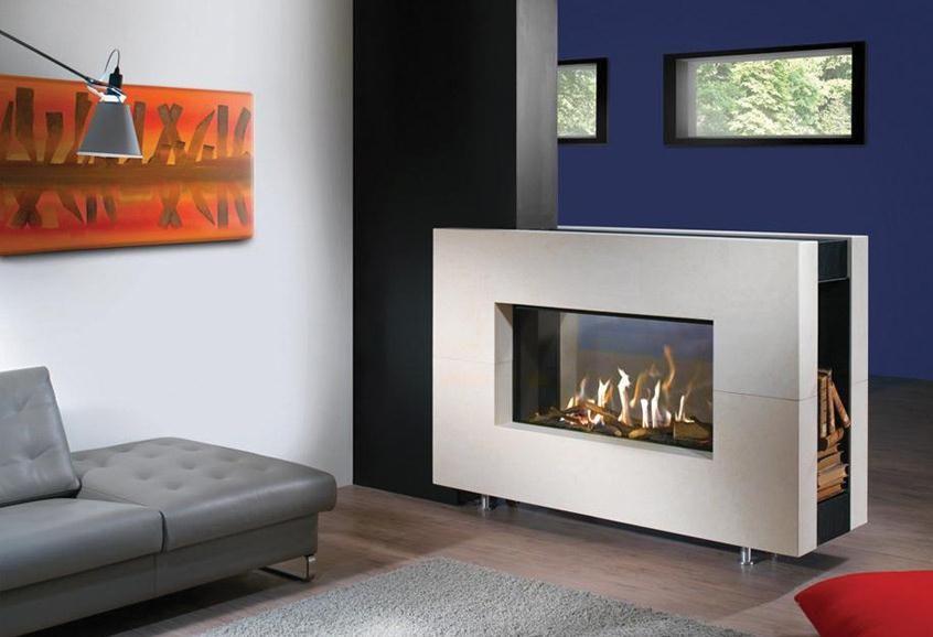 Foyer Ferme Grand Modele : Kalfire cheminée gaz foyer fermé modèle fairo tunnel
