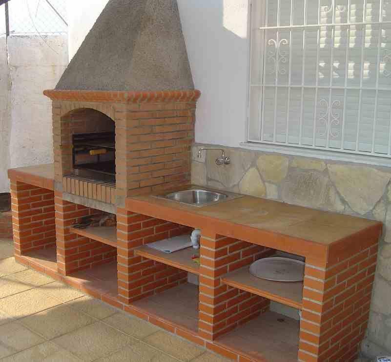 Dise o asador buscar con google churrasquera exterior for Fregaderos de barro