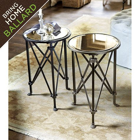 Olivia Mirrored Side Table Ballard Designs Under One Hundred Dollars