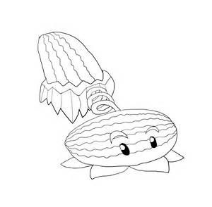 Plants Vs Zombies Winter Melon Coloring Page Coloring Pages