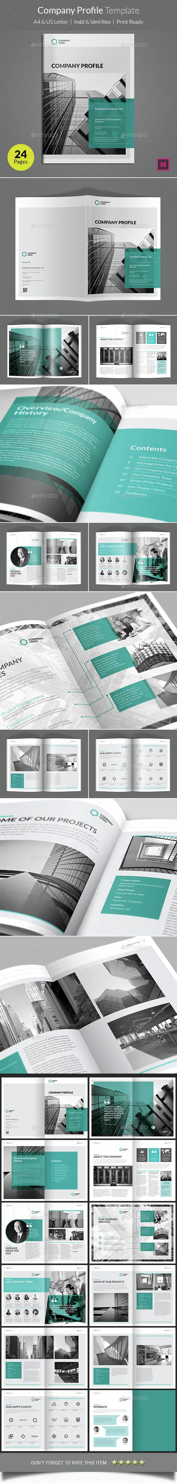 Company Profile Brochure Template InDesign INDD. Download