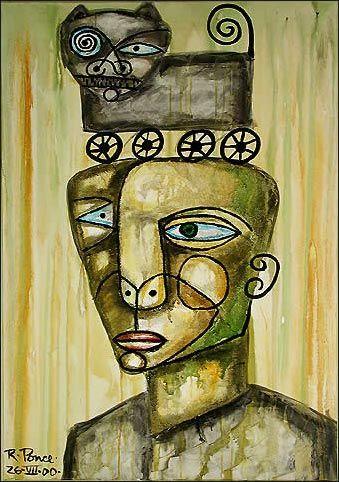 """""""Personaje Y Gato"""" (471) · 2000 by Ricardo Ponce"""