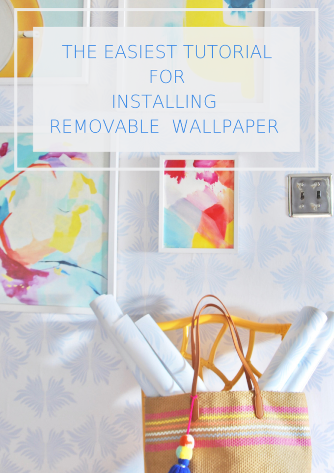 The Easiest Way To Install Removable Wallpaper Effortless Style Blog Removable Wallpaper Installation Wallpaper