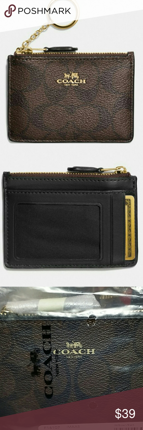 ❤ COACH ID  CREDIT CARD KEY CHAIN WALLET❤ AUTHENTIC COACH ... 431f8b157743c
