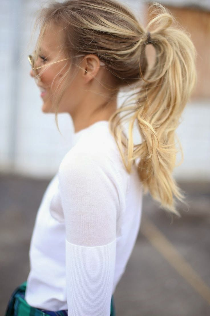 Hair Style Messy Ponytail