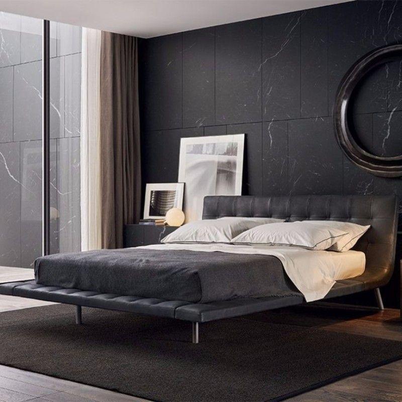 Eleganz und Luxus mit dunklen Schlafzimmer Designs Grey bed