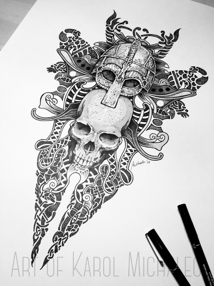 Evig Død Viking ink work by me art post Viking tattoos