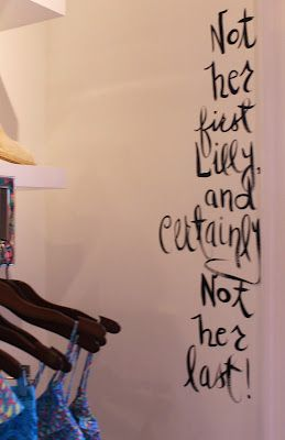 Adorable Lilly Pulitzer wall quote at the Madison Avenue store by Maryland Pink and Green