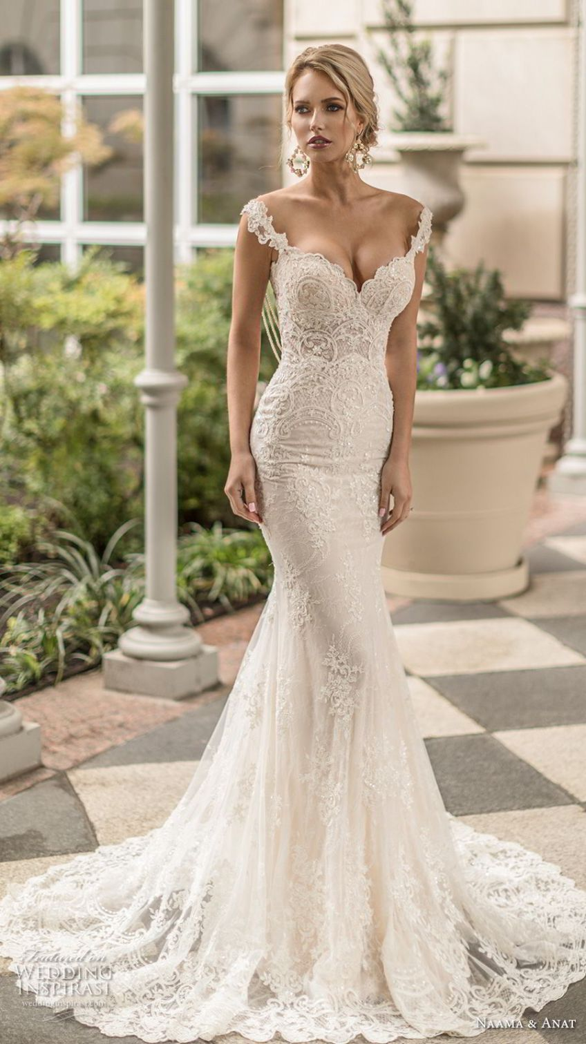 Naama Anat Spring 2019 Bridal Sleeveless Embellished Strap Sweetheart Neck Bridal Dresses Lace Wedding Dresses Mermaid Sweetheart Lace Sweetheart Wedding Dress [ 1512 x 848 Pixel ]