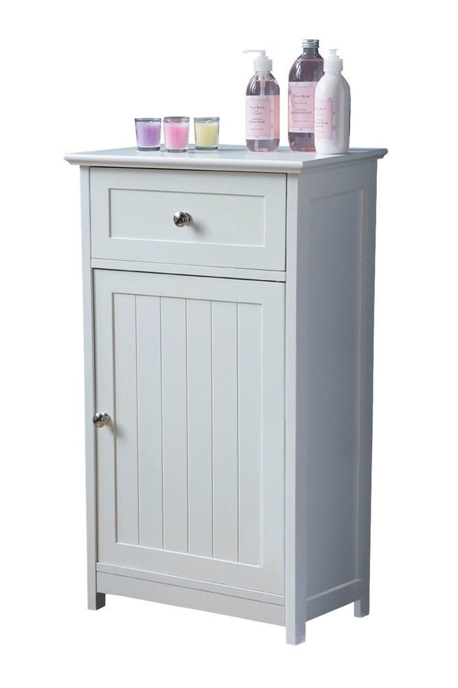 white wooden shaker style floor standing bathroom cabinet storage cupboard - Shaker Bathroom 2016