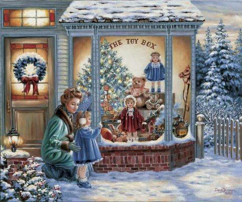 Old Fashioned Christmas Pictures.The Toy Box A Very Vintage Christmas Christmas Scenes