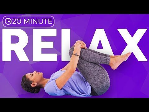20 minute yin yoga for relaxation 💙 release stress  calm