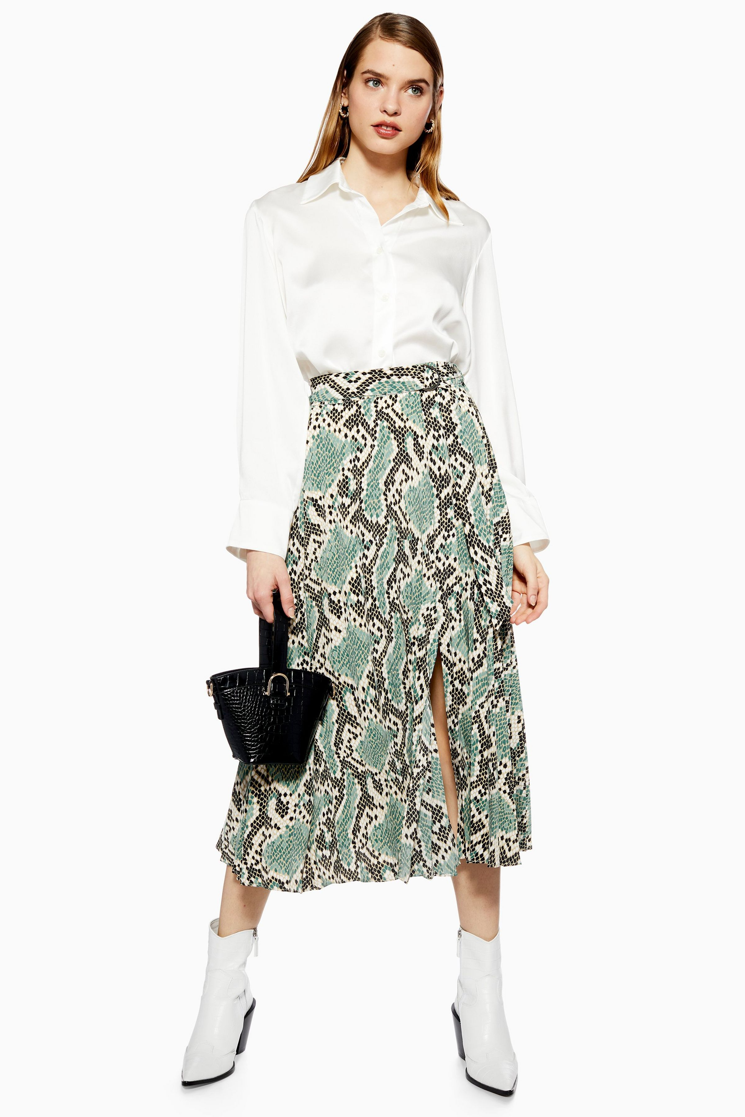 18850f59 Python Pleated Midi Skirt in 2019 | Style and Fashion | Spring ...