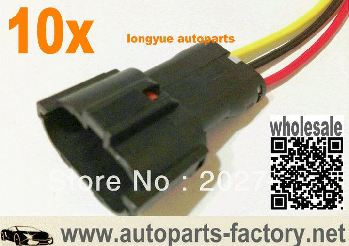 3 wire harness connector long yue 3 pin male ket pigtail connector automotive wiring long yue 3 pin male ket
