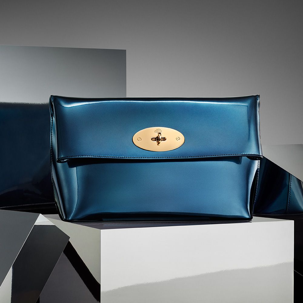660c4d2242 Mulberry Gift Collection – New Arrivals - Clemmie Clutch in Midnight Blue  Mirror Metallic Leather
