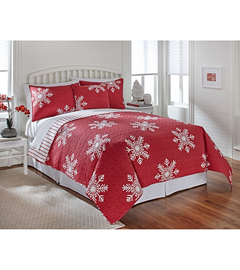 LivingQuarters New Haven Red Snowflake Quilt Collection   Younkers ... : red snowflake quilt - Adamdwight.com