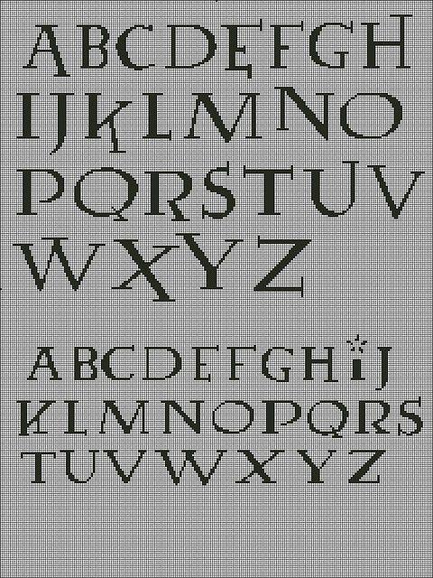 Harry Potter Font Cross Stitch Chart