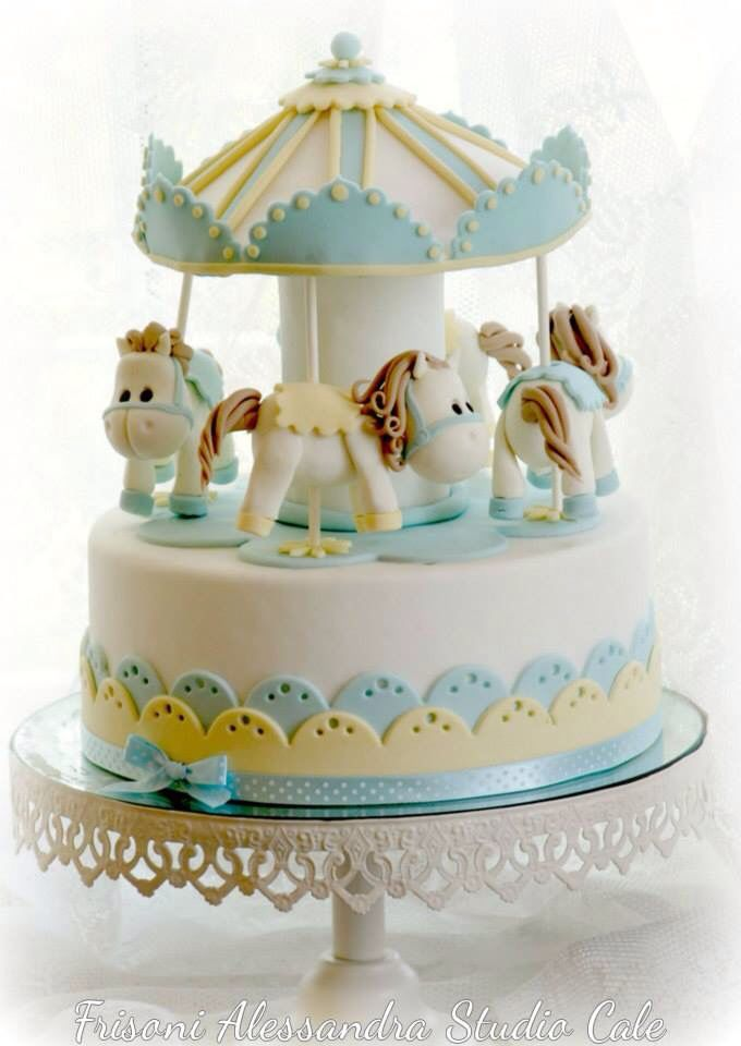 Cute carousel cake