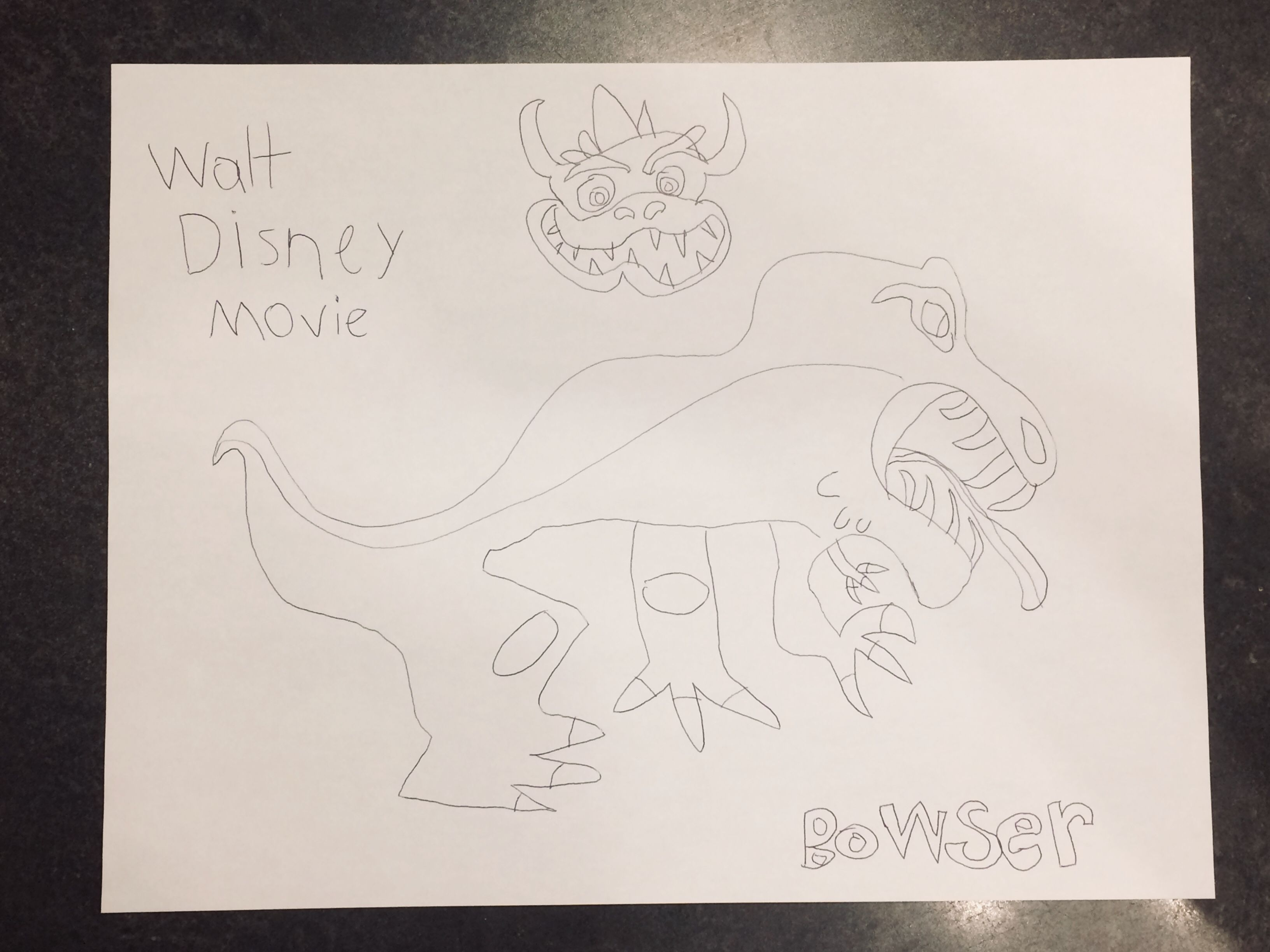 Walt Disney Super Mario Bros Movie Bowser Trex The Lizard