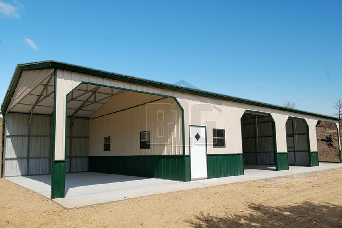 The Cowboy Garage Barn 24x70x11 Big Buildings Direct In 2020 Custom Metal Buildings Metal Buildings Metal Building Prices