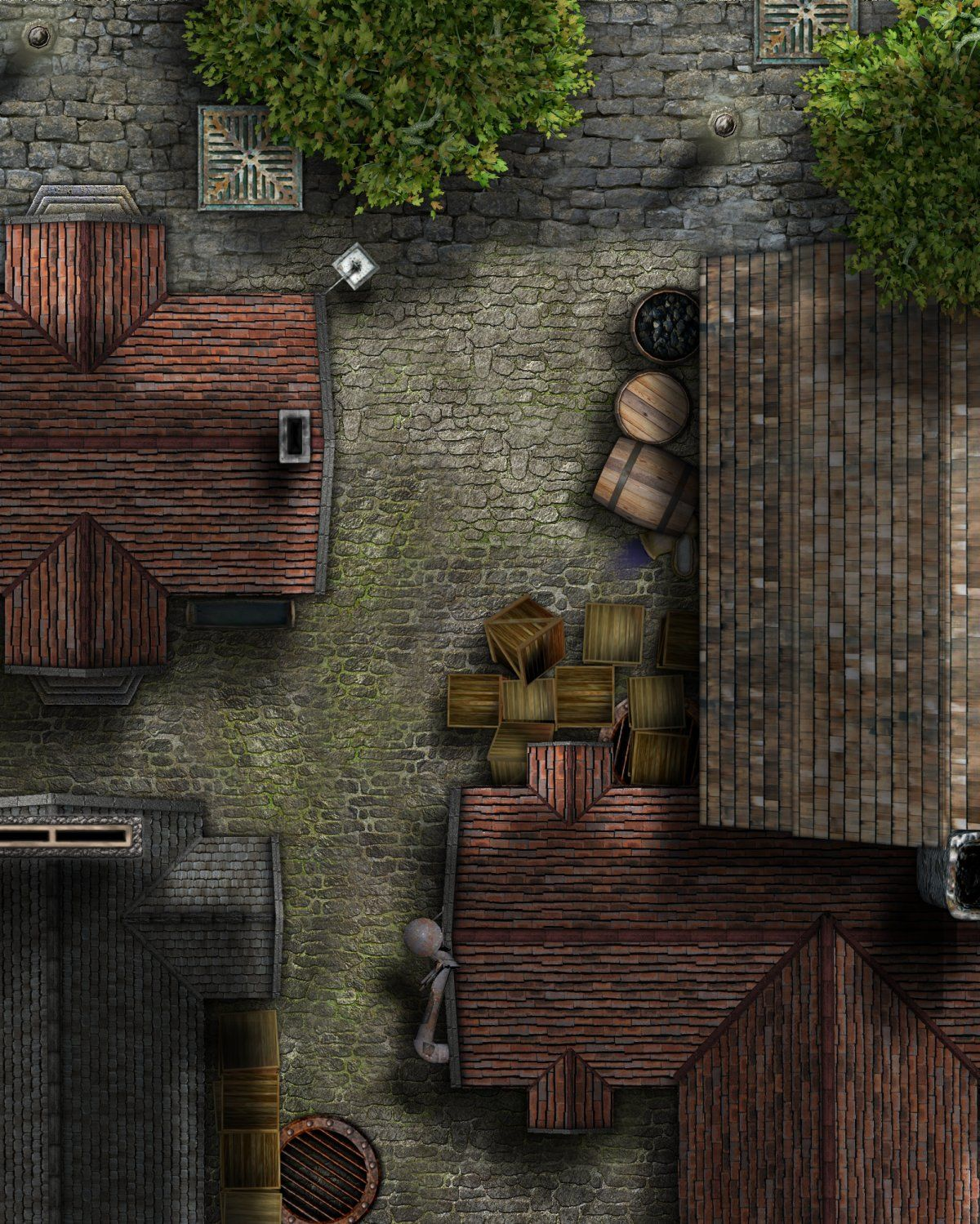 Dnd Alley Map : alley, Dundjinni, Mapping, Software, Forums:, Scenes, (Alley, Encounter, Added), Fantasy, Tabletop