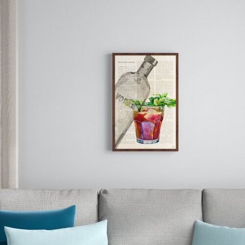 Photo of East Urban Home Gerahmtes Poster Bloody Mary History II