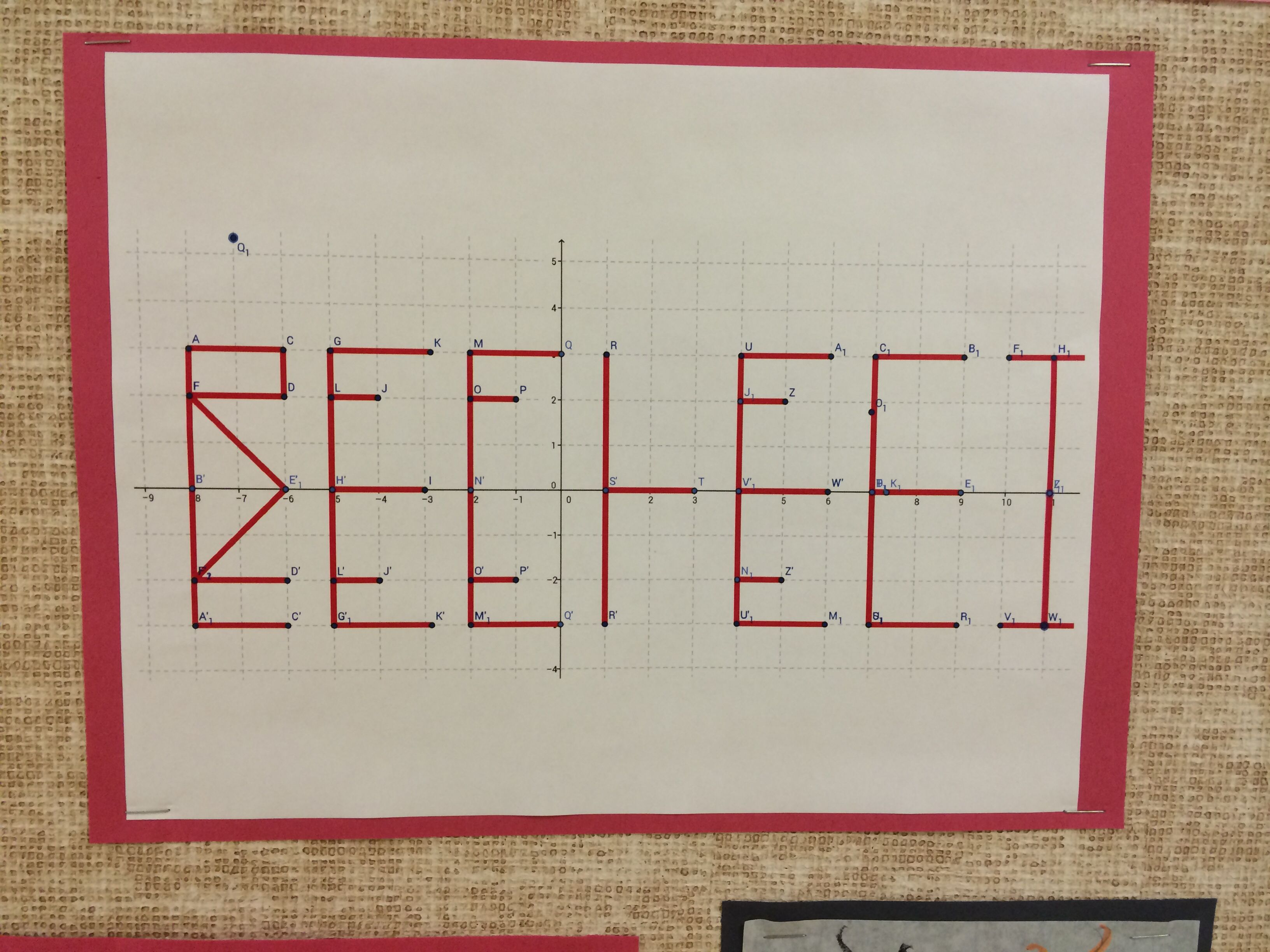 Use Geogebra To Create A Reflection For Geometry