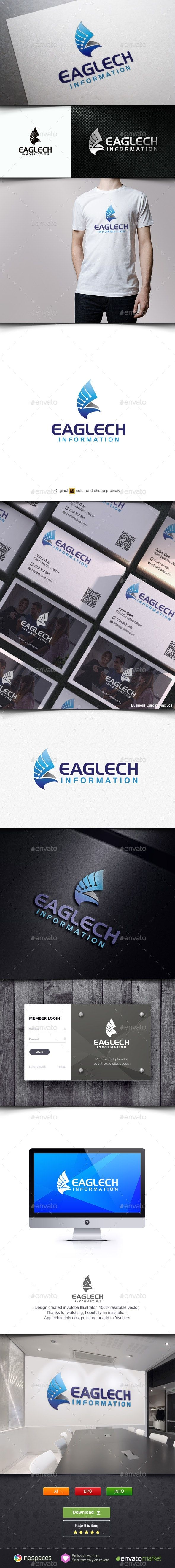 Eagle Tech Logo Design Template Pet Logo Design Music Logo