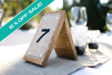 Rustic Wood & Burlap Table Numbers Set Of 20, 56% off | Recycled Bride