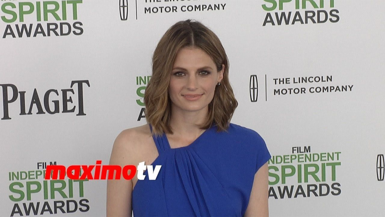 Stana Katic 2014 Spirit Awards ARRIVALS (+playlist)