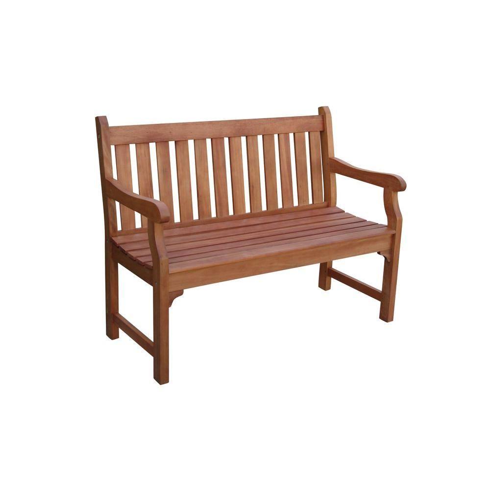 Vifah Henley Eucalyptus 2 Seater Patio Bench V206E