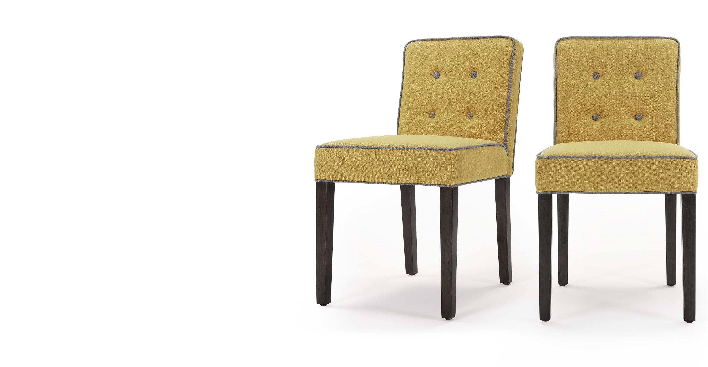 Set of 2 Hoxton Dining Chairs Pistachio Green and Graphite Grey