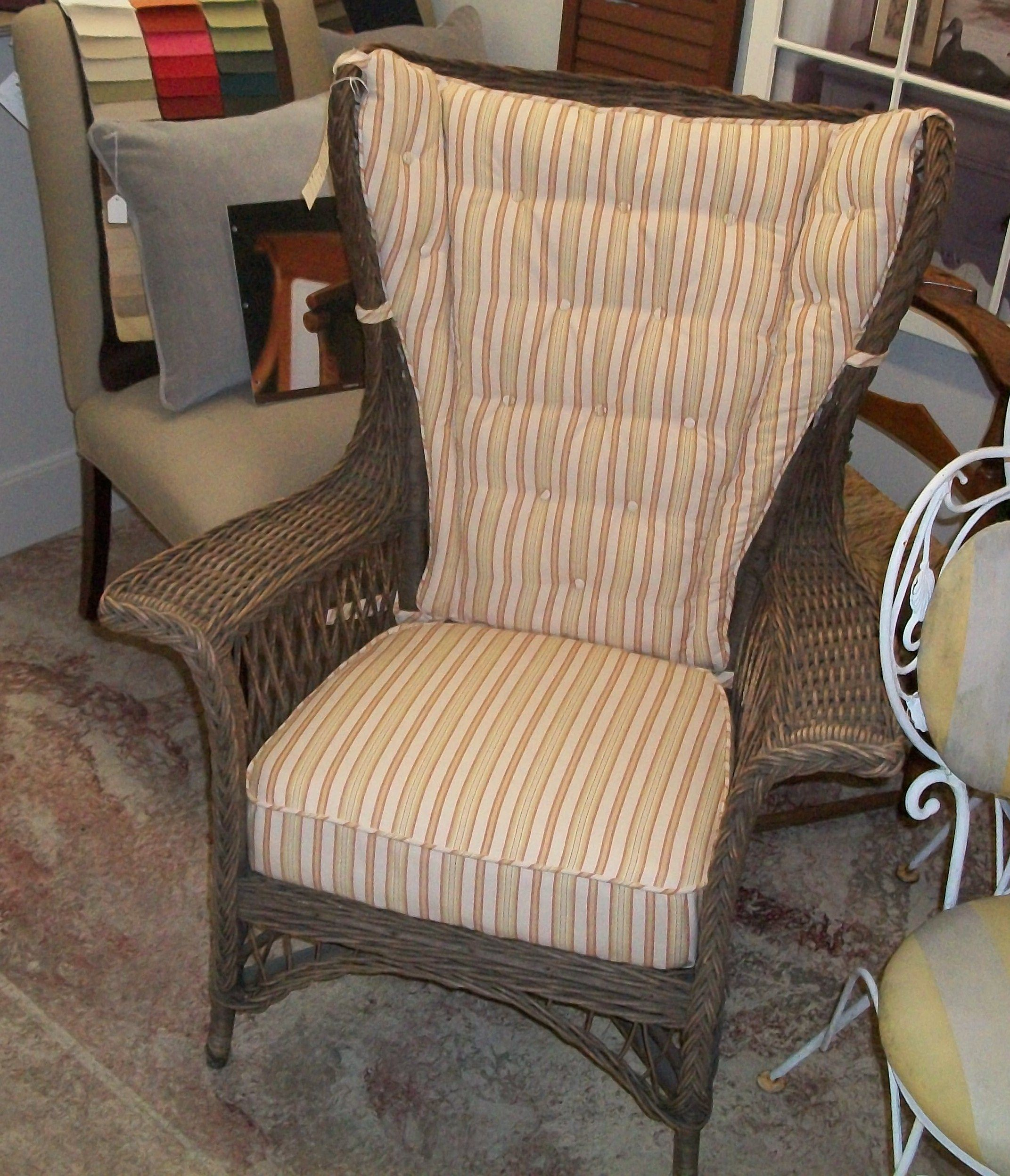 Superb New Cushions For This Wicker Chair Made At Ravenwood Furniture.