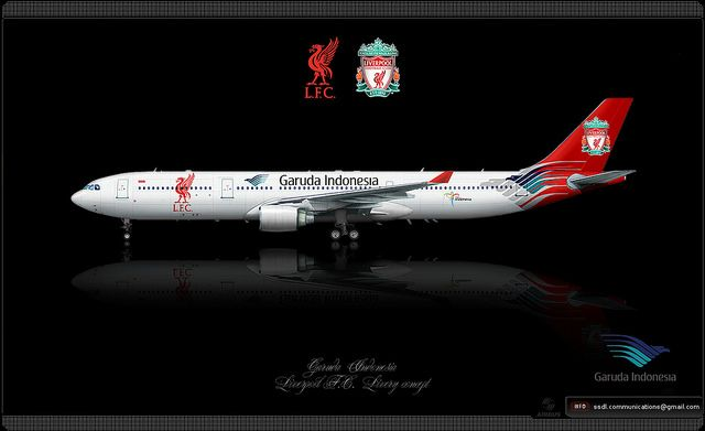 Garuda Indonesia Liverpool F C Livery Concept Aviation Posters Aircraft Painting Aviation