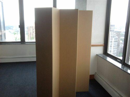 Ft Tall Durable Cardboard DIY Room Divider Diy Room - Diy cardboard room divider privacy screen