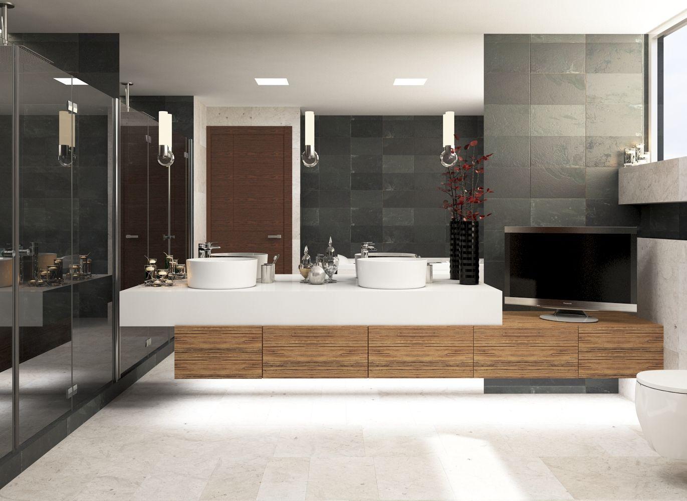 Dise o interior moderno contempor neo ba o principal for Banos modernos diseno interior
