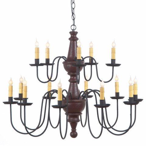 Large Harrison Chandelier Primitive Wood Amp Metal 15 Candle