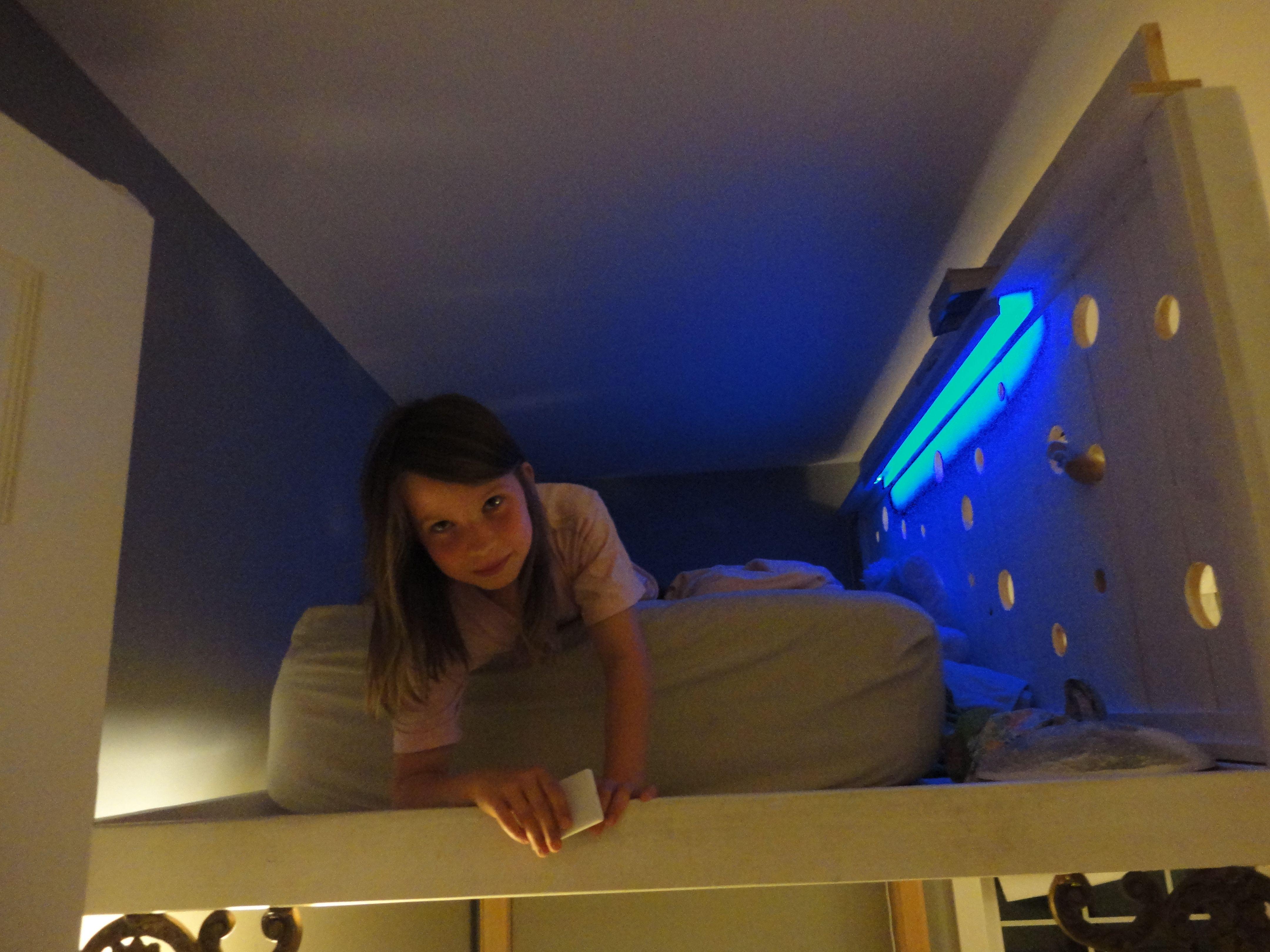 Loft Bed W Led Lights For The Kids Pinterest Lofts