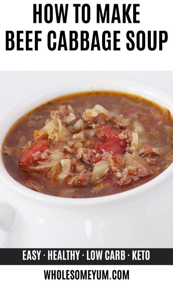 How To Make Cabbage Soup With Ground Beef - Crock Pot Or Instant Pot Recipe images
