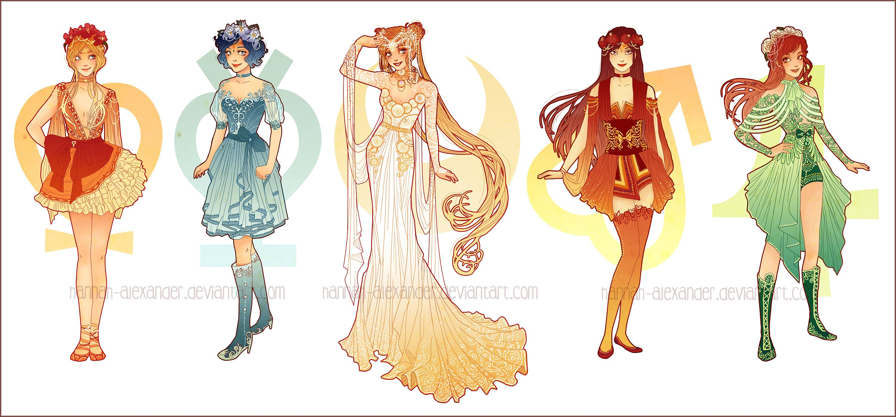 CARTOLINE Art Nouveau Sailor Moon Designs
